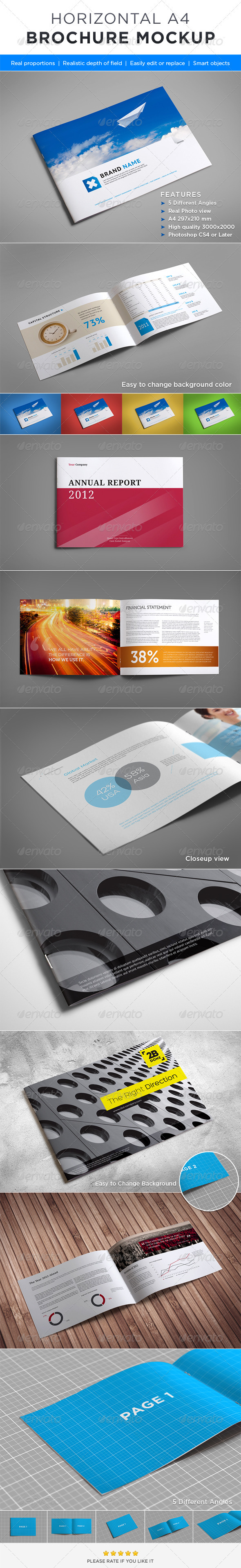 Horizontal Brochure Mock-up - Brochures Print