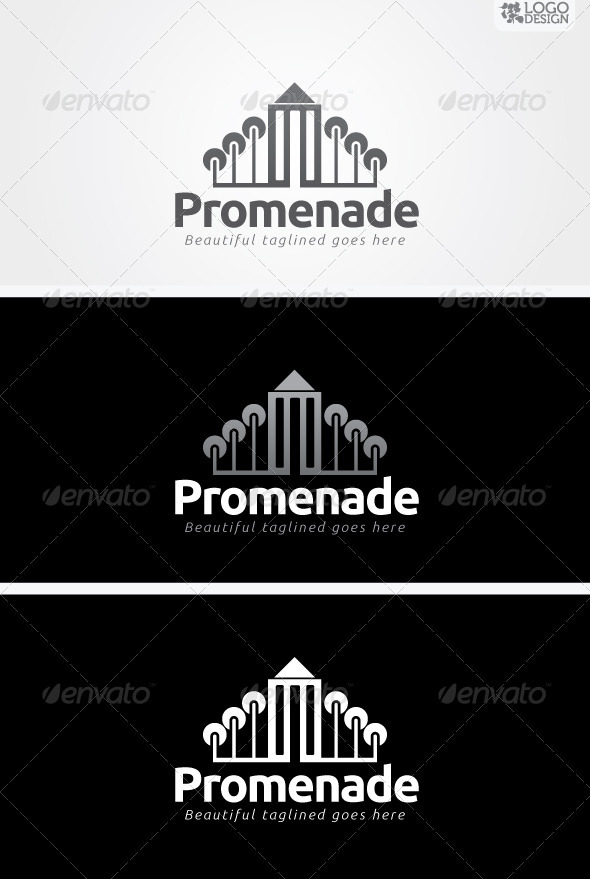 Promenade - Buildings Logo Templates
