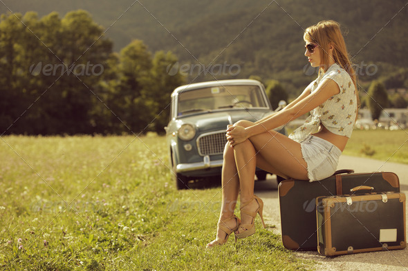 Vintage travel - Stock Photo - Images