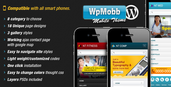 ThemeForest WpMobb Wordpress Mobile Template 2561143