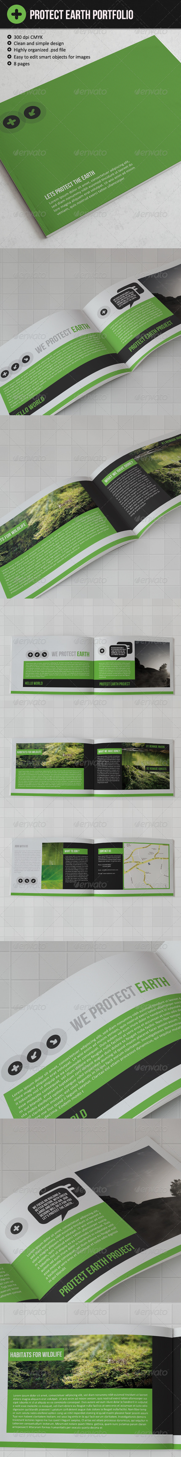 GraphicRiver Protect The Earth Brochure 2944225