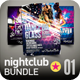 Nightclub Flyer Bundle | 001 - GraphicRiver Item for Sale