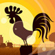 Rooster Crowing  - GraphicRiver Item for Sale