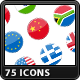 75 Flags Icons - GraphicRiver Item for Sale