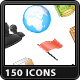 150 Business &amp;amp; Application Icons - GraphicRiver Item for Sale
