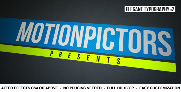 After Effects Project - VideoHive Elegant Typography V2 2950403