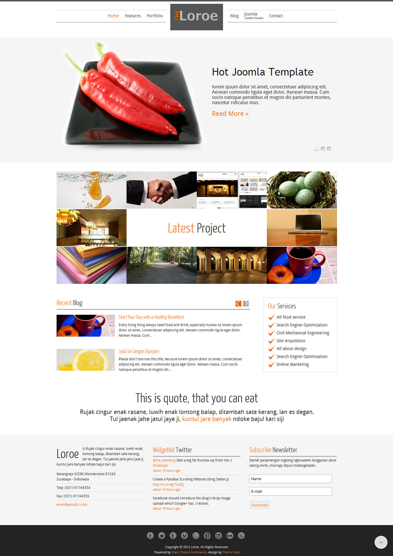 Loroe - Responsip Joomla Template