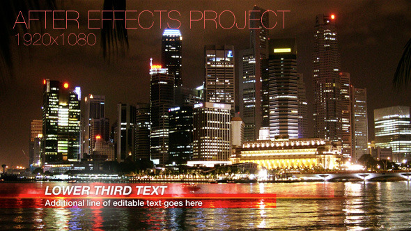 After Effects Project - VideoHive Corporate News Lower Third 2950818