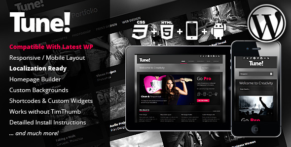 Tune - Theme Responsive de Agencia para WordPress