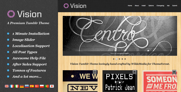View live Demo for Vision - Stylist Tumblr Portfolio Theme