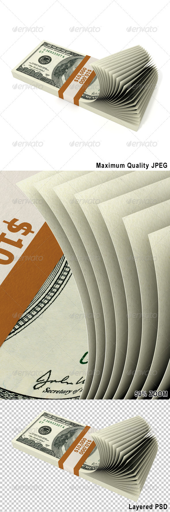 Stack of 10000 Dollars - Business Backgrounds