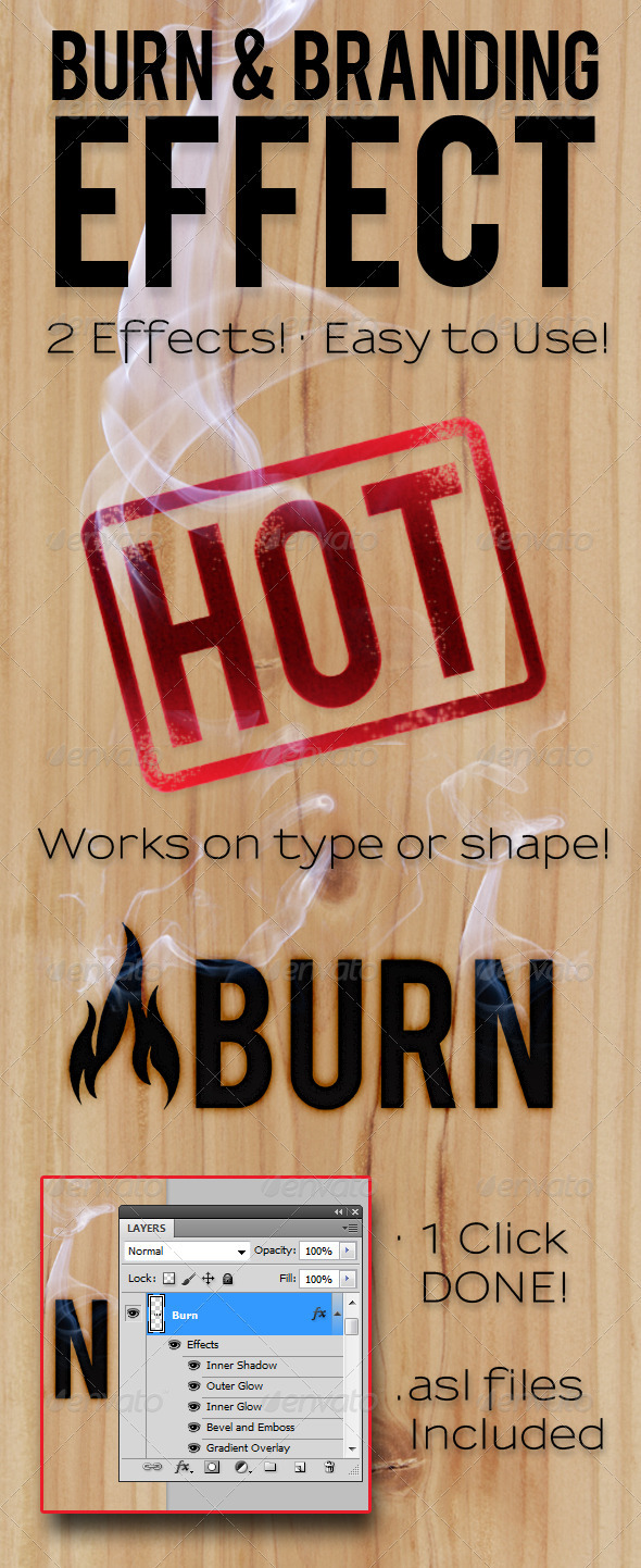 Burn & Branding Effects - Text Effects Styles