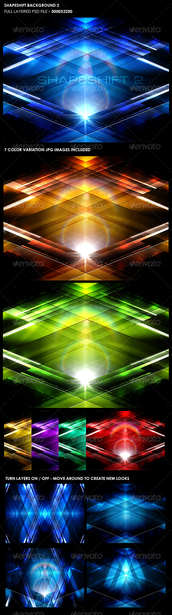 GraphicRiver Shape Shift Background 2 105532