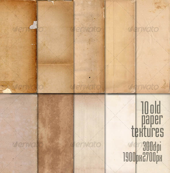 GraphicRiver 10 Old Paper Textures 105584