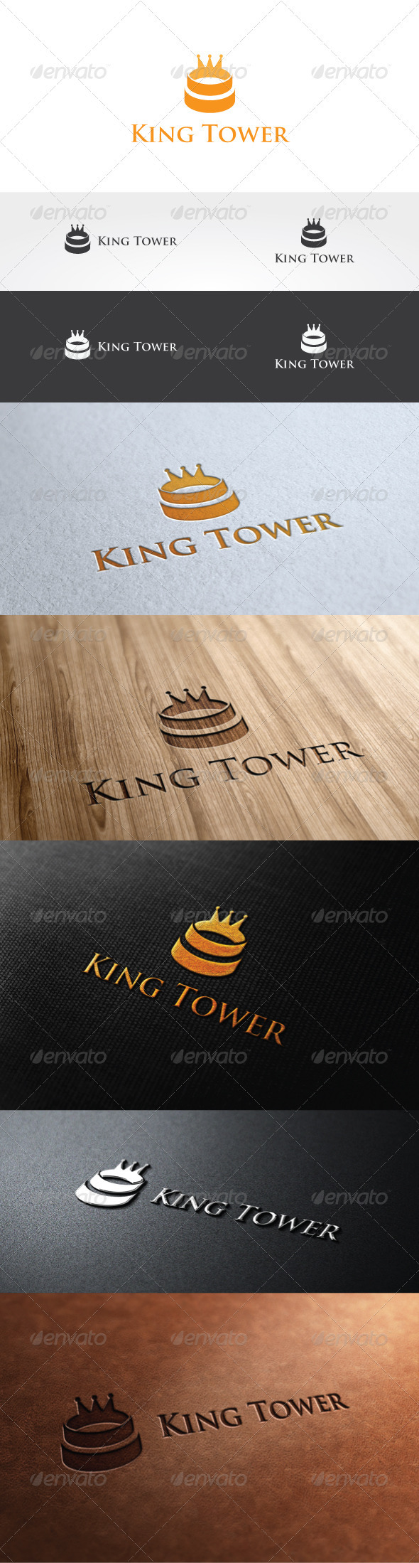 King Tower Logo Template - Objects Logo Templates