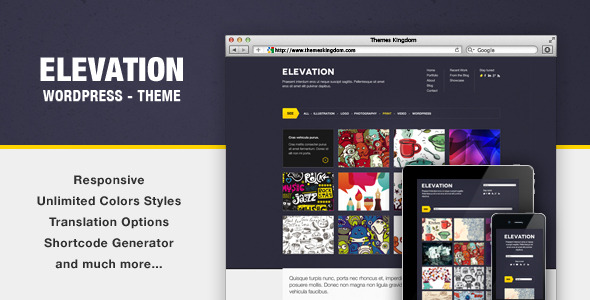 Elevation - Responsive WordPress Theme