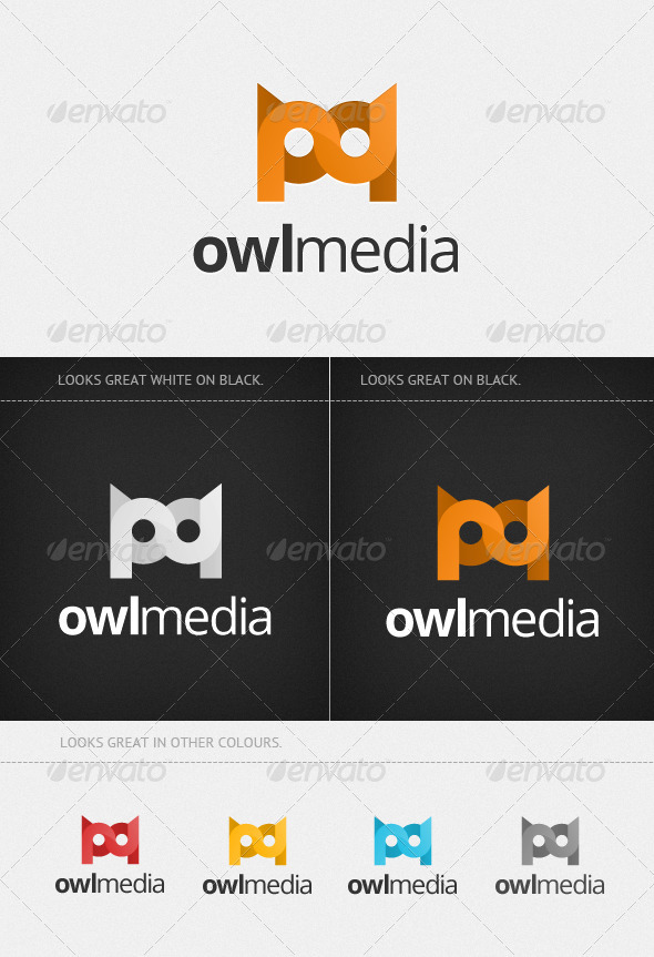 Modern Owl Media Logo - Vector Abstract