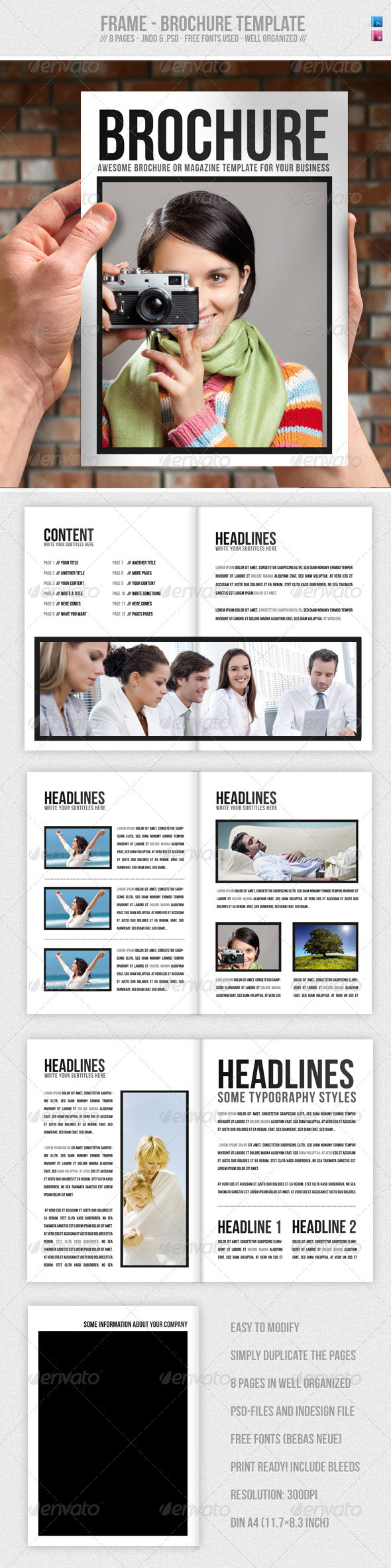 Frame - Brochure / Presentation Template  - Corporate Brochures