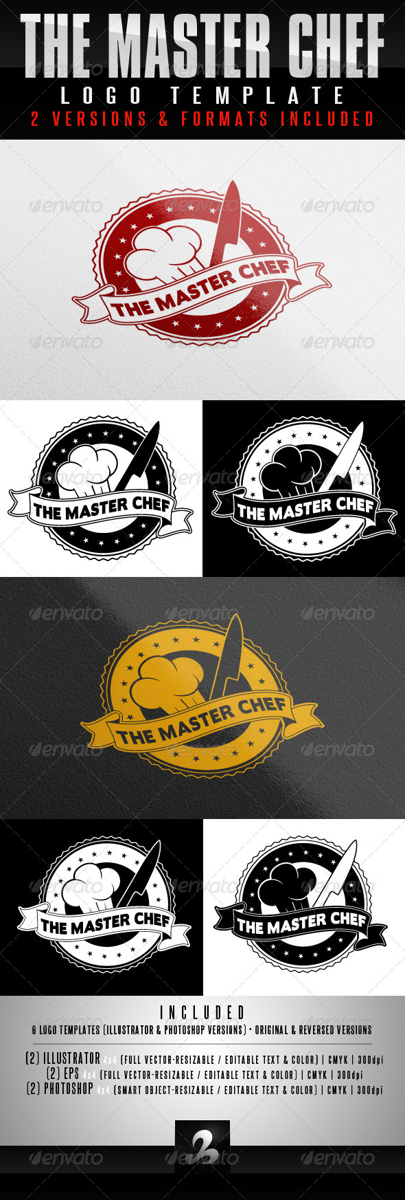 Chef Logo Templates - Food Logo Templates