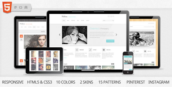 ThemeForest Moderna Responsive HTML5 Template 2857189