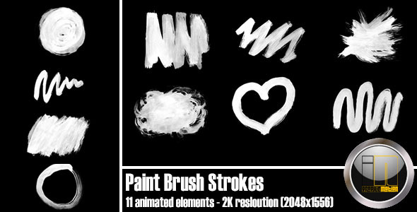 VideoHive Paint Brush Strokes 2961622
