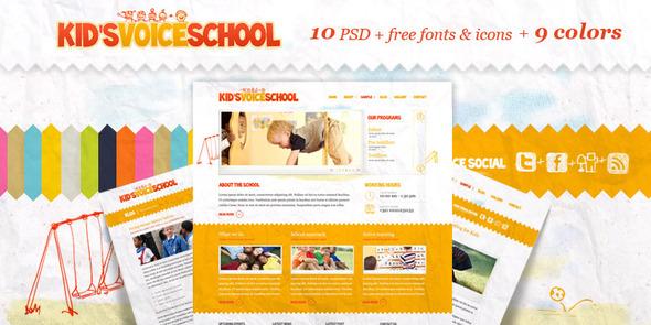 Kids Voice School by Aislin   ThemeForest