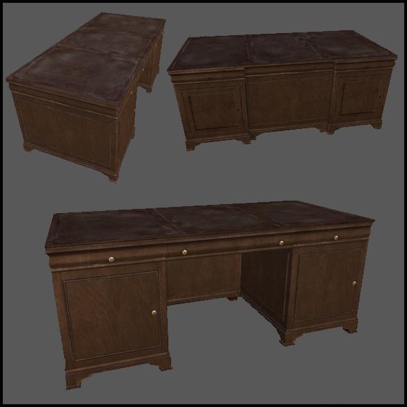 3DOcean Classic Desk 2962341