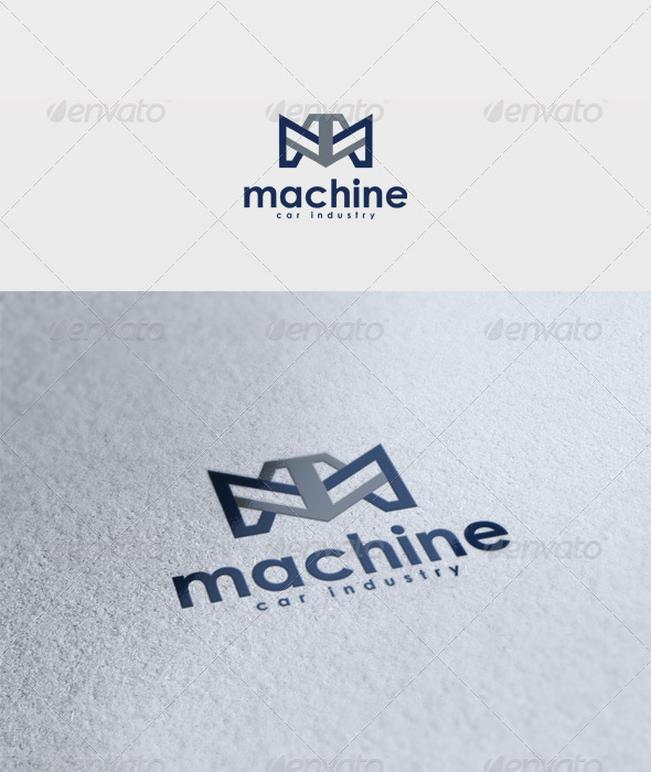 GraphicRiver Machine Logo 2965392