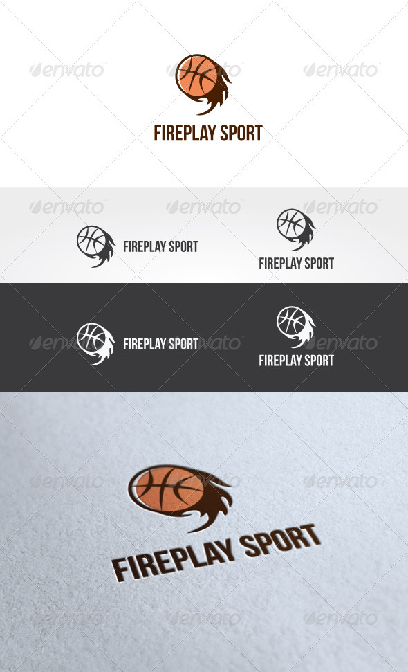 Fire Play Sport Logo Template - Objects Logo Templates