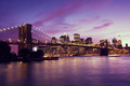 Brooklyn Bridge and Manhattan at sunset, New York - PhotoDune Item for Sale