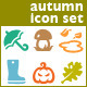Associations. 16 Autumn Vector Icons. - GraphicRiver Item for Sale