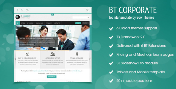 BT Corporate Template For Joomla 2.5