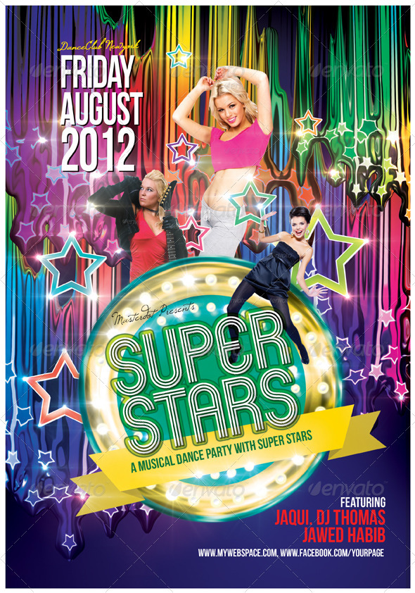 Superstars Poster Template - Clubs & Parties Events