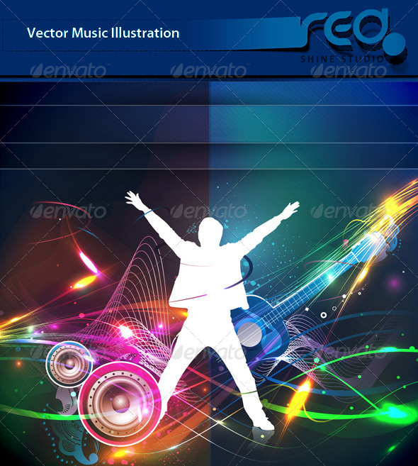 Dance Party Vector Template Design_7 - People Characters