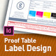 Designers Must Have. Proof Table. Label design. - GraphicRiver Item for Sale