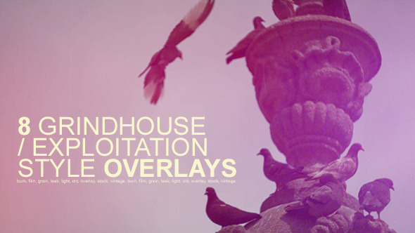 VideoHive Grindhouse Film Style Overlays 2939026