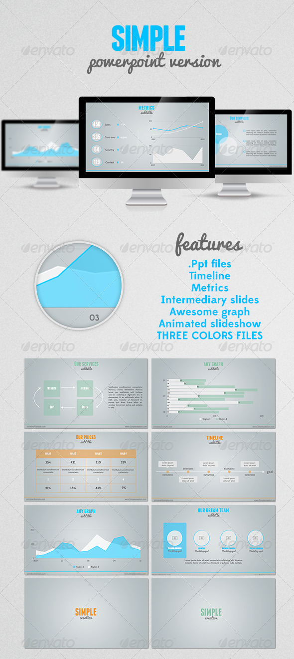 GraphicRiver SIMPLE Powerpoint presentation 2970723