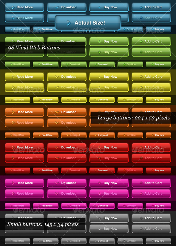 GraphicRiver Vivid Color Web Buttons 60212