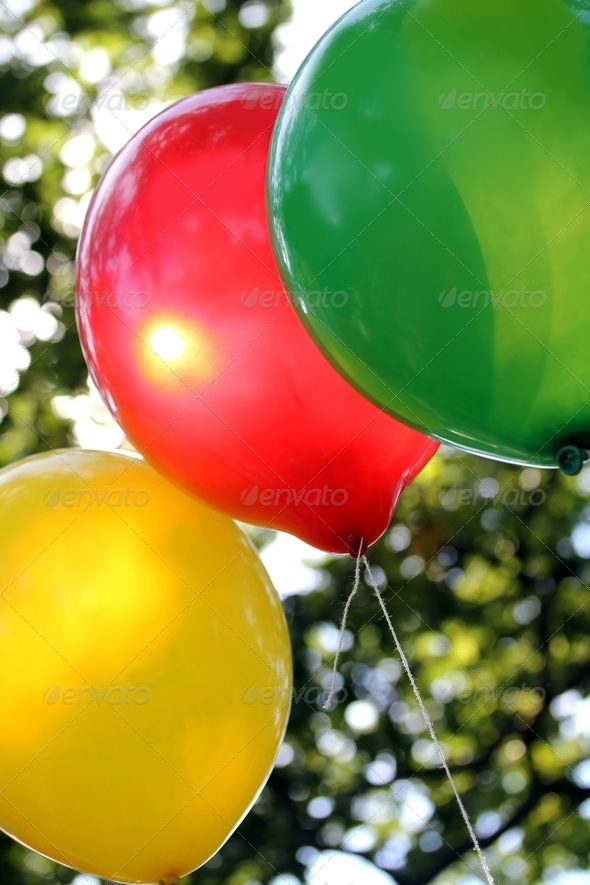 colorful party balloons - Stock Photo - Images