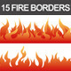 15 Fire Borders - GraphicRiver Item for Sale