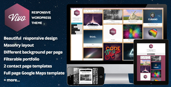 Vivo - Responsive WordPress Portfolio - Vivo Preview