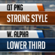 Strong Style Lower Third - VideoHive Item for Sale