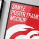 Simple Poster Frame Mockup - GraphicRiver Item for Sale