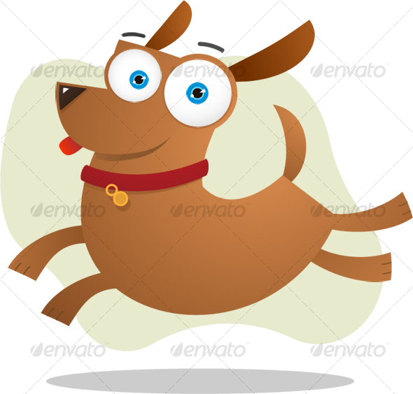 GraphicRiver Brown dog jumping 106046