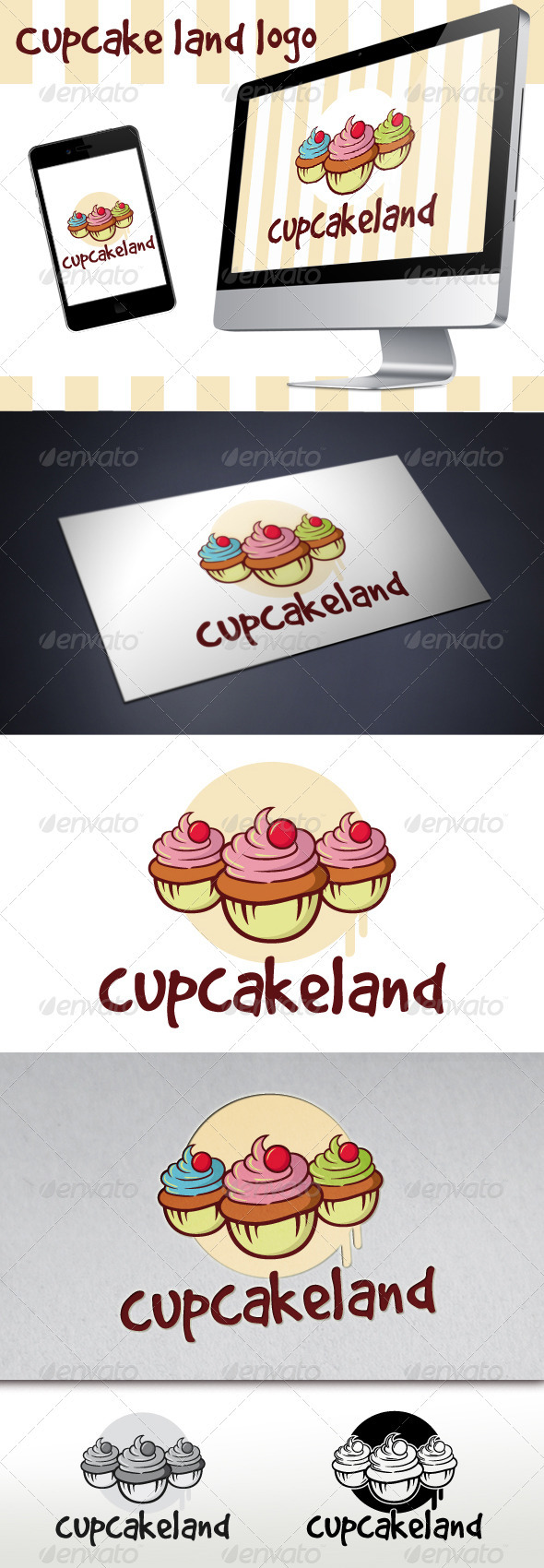 Cupcake Logo - Food Logo Templates