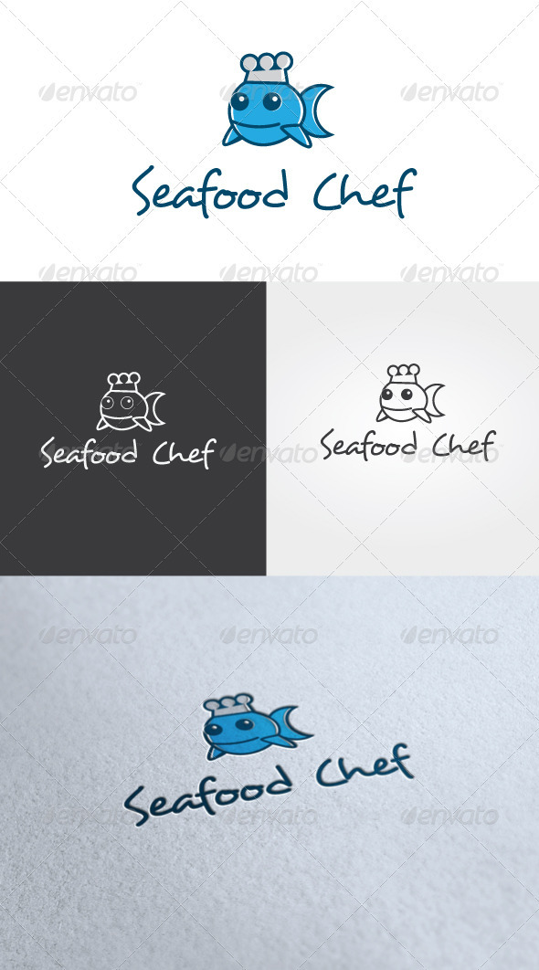 Seafood Chef Logo Template - Food Logo Templates