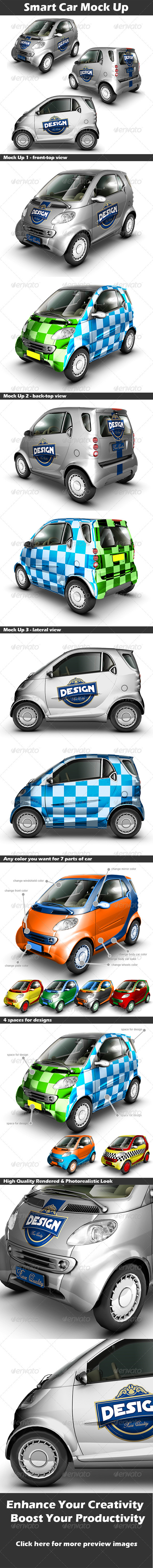 Smart Car Mock Up - Vehicle Wraps Print