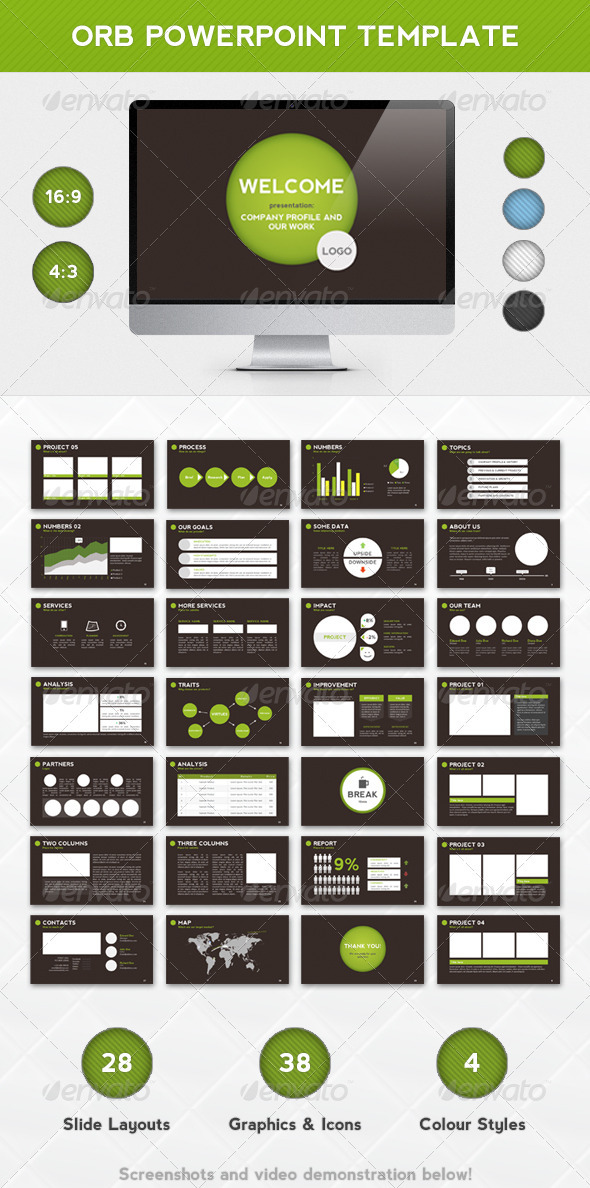 Orb PowerPoint Template - Powerpoint Templates Presentation Templates