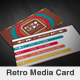 Retro Media Creative Business Card - GraphicRiver Item for Sale