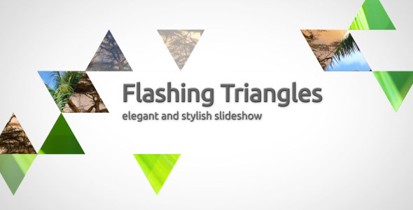 After Effects Project - VideoHive Flashing triangles elegant slideshow 308601